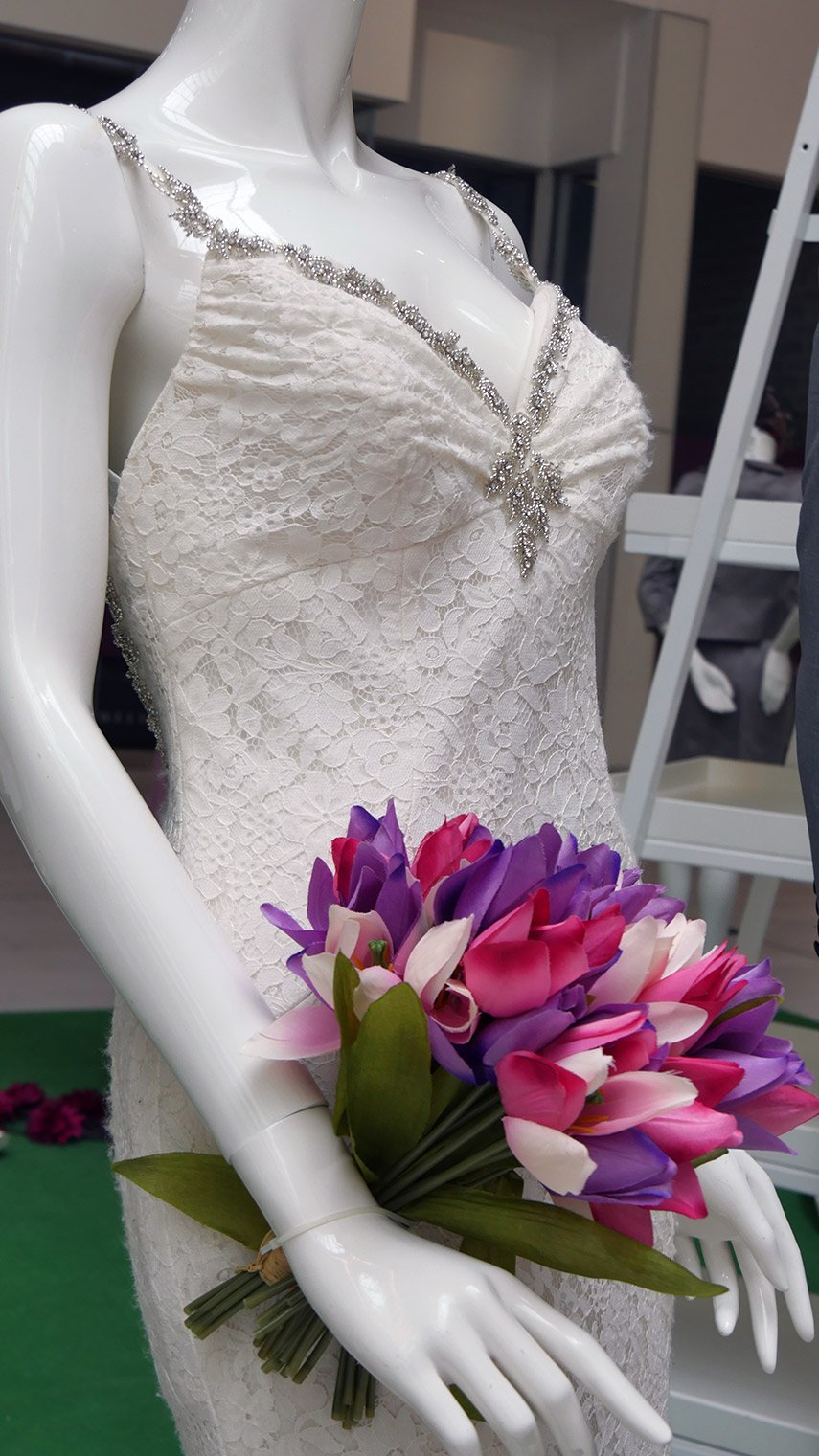 Dress 1 purple flowers